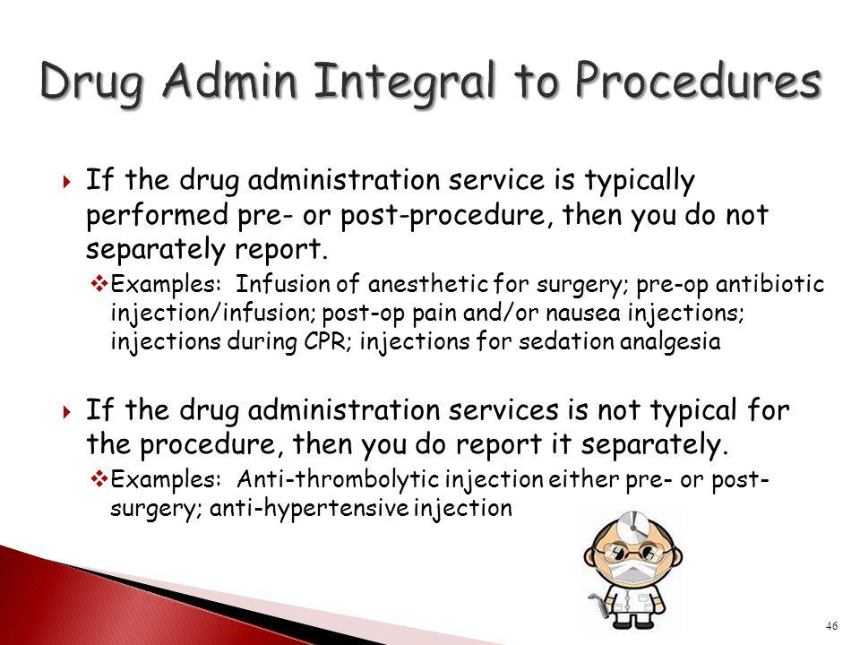 Drug Admin Integral to Procedures