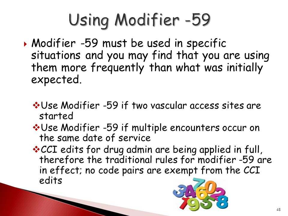 Using Modifier -59