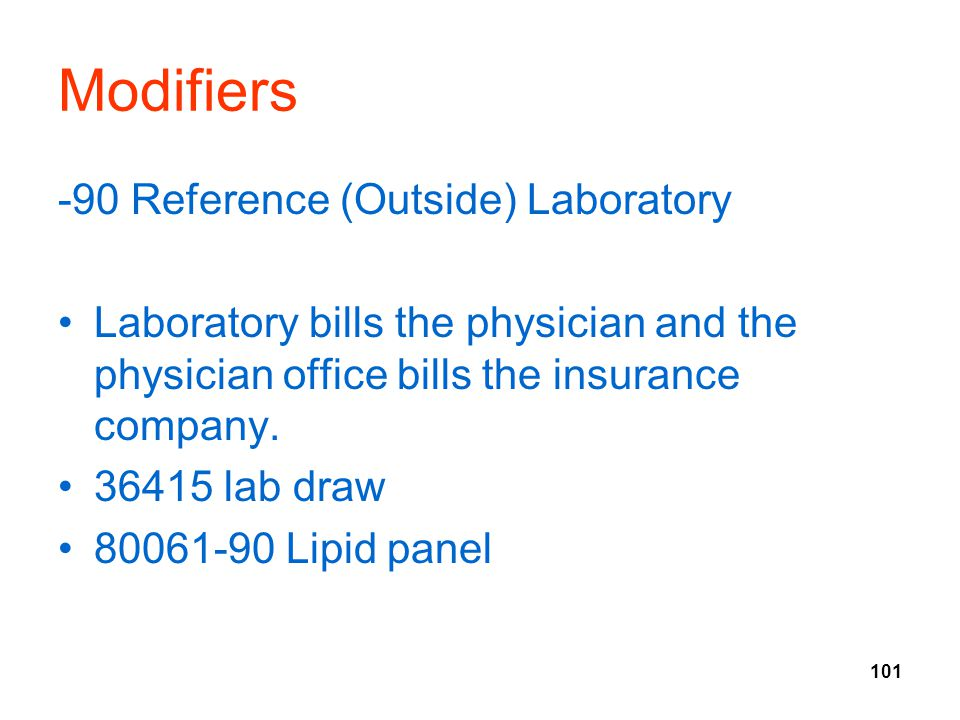 Modifiers -90 Reference (Outside) Laboratory