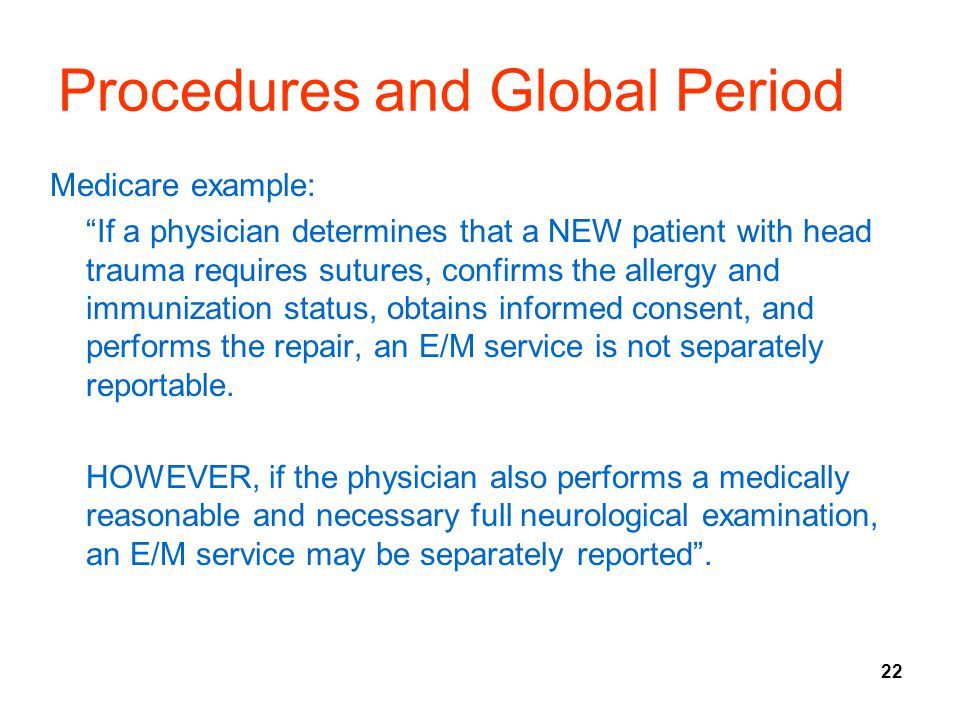 Procedures and Global Period