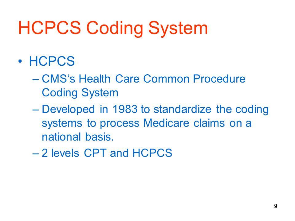 HCPCS Coding System HCPCS