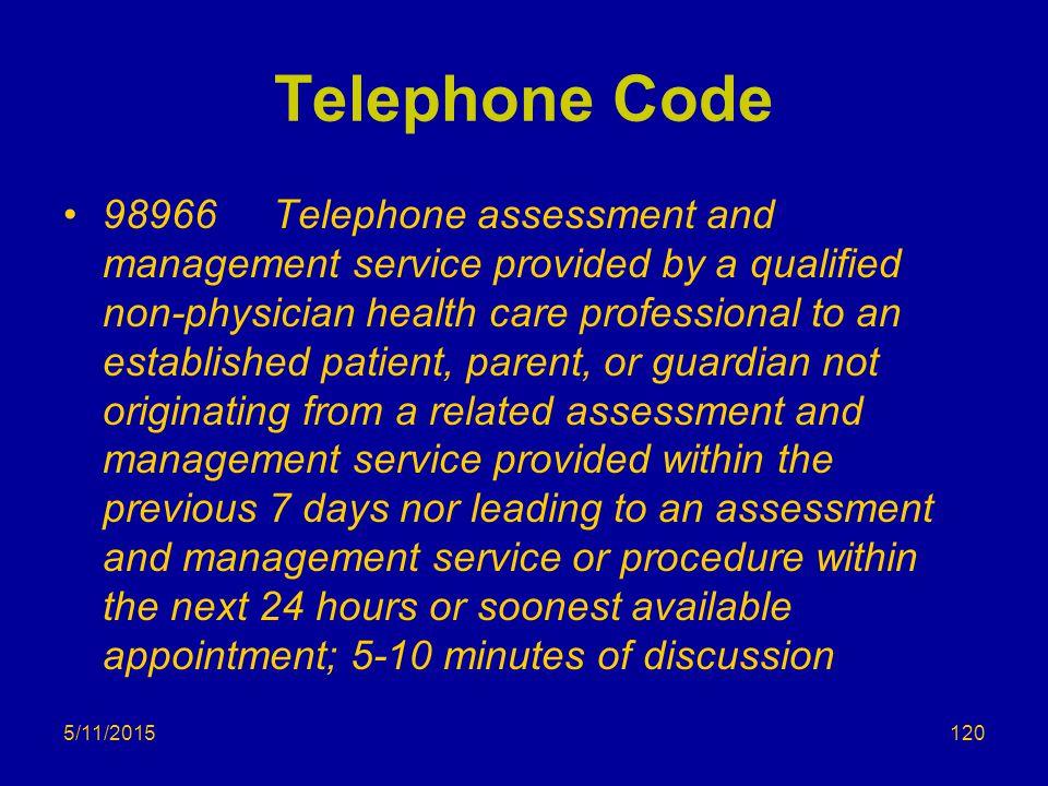 Telephone Code