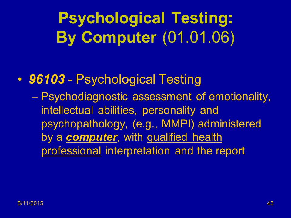 Psychological Testing: By Computer (01.01.06)