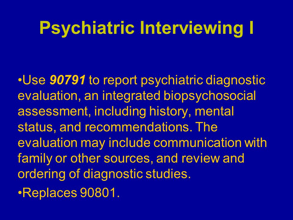 Psychiatric Interviewing I