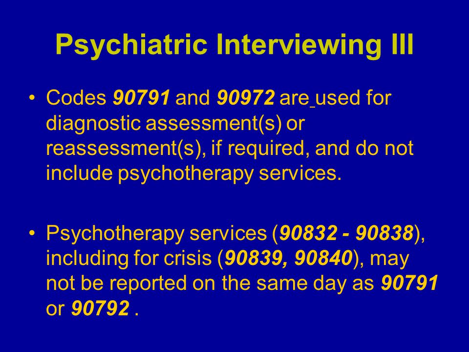 Psychiatric Interviewing III