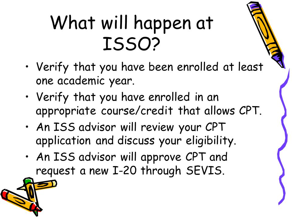 What will happen at ISSO