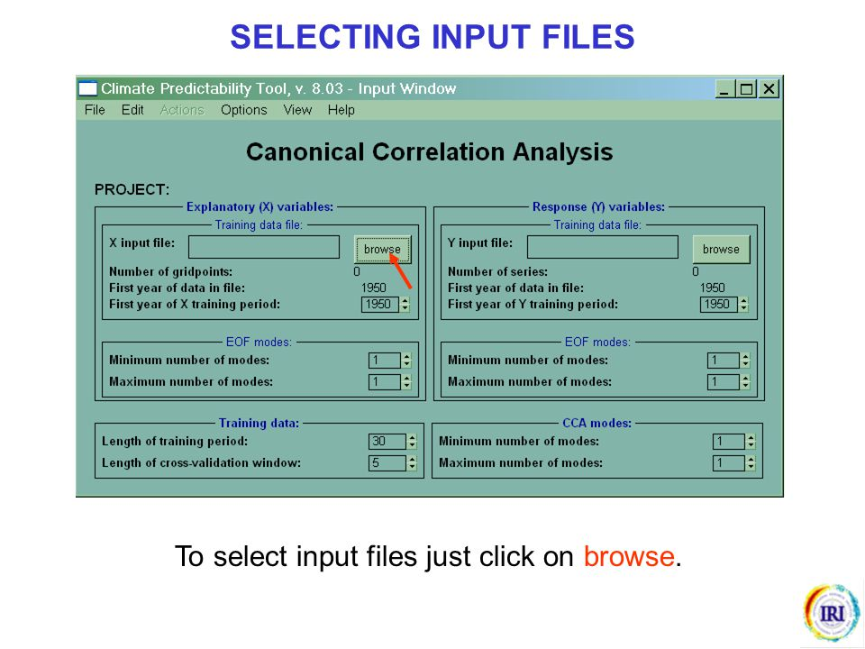 SELECTING INPUT FILES To select input files just click on browse.