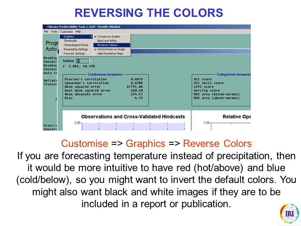 Customise => Graphics => Reverse Colors