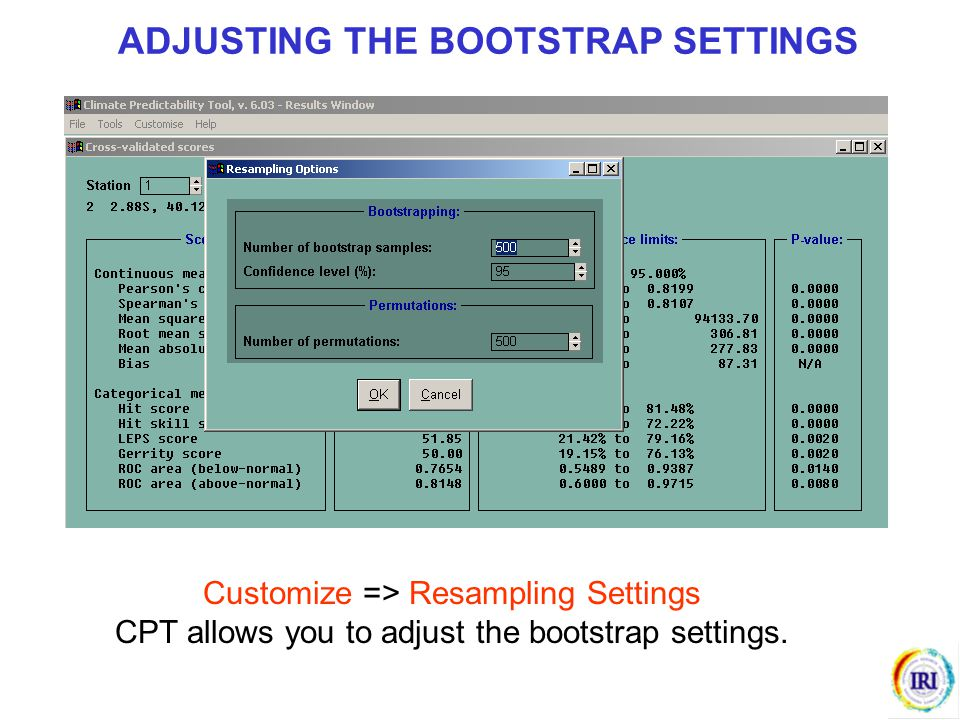 ADJUSTING THE BOOTSTRAP SETTINGS