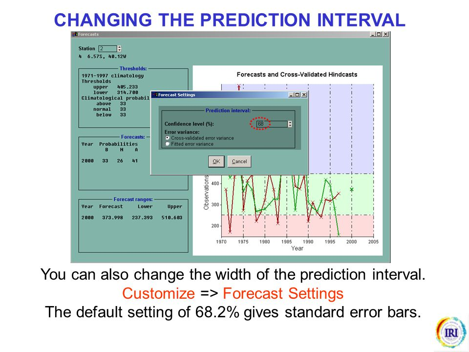 CHANGING THE PREDICTION INTERVAL