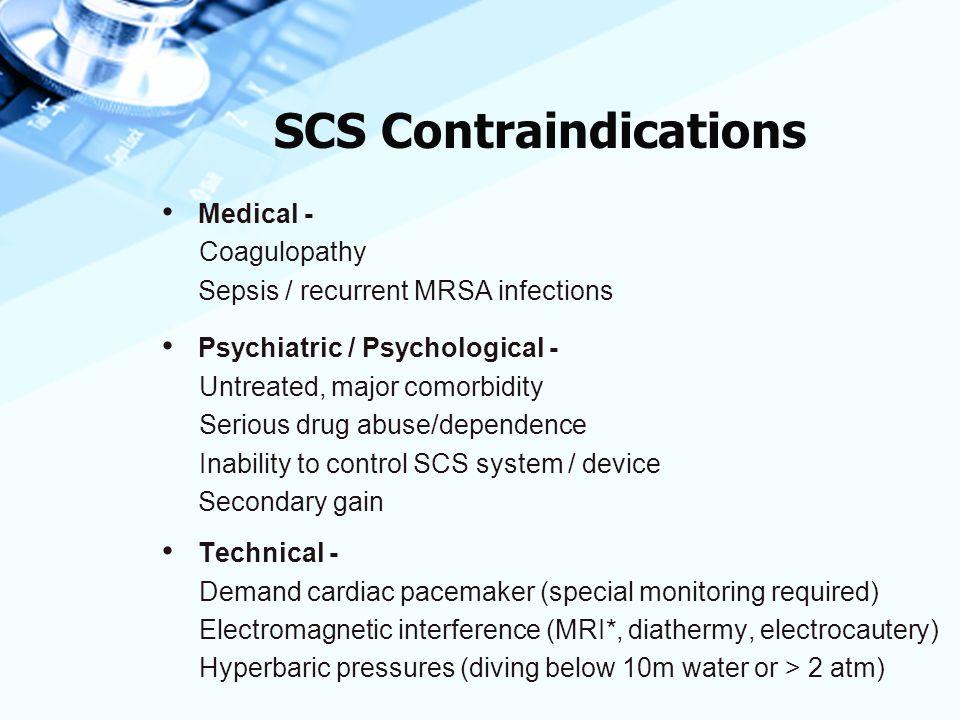 SCS Contraindications