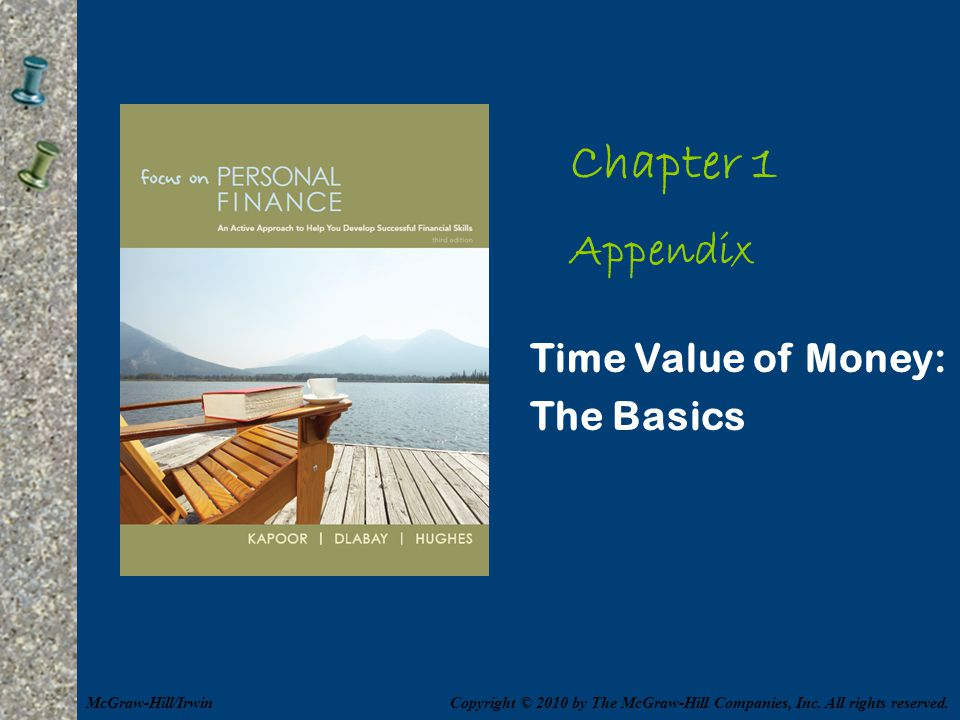 Chapter 1 Appendix Time Value of Money: The Basics McGraw-Hill/Irwin
