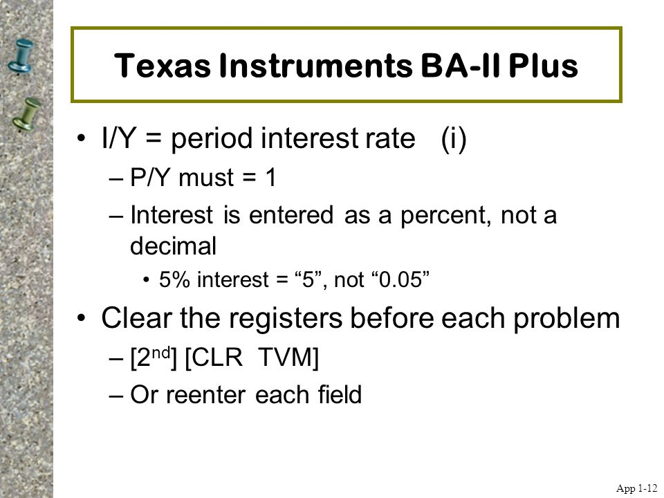 Texas Instruments BA-II Plus