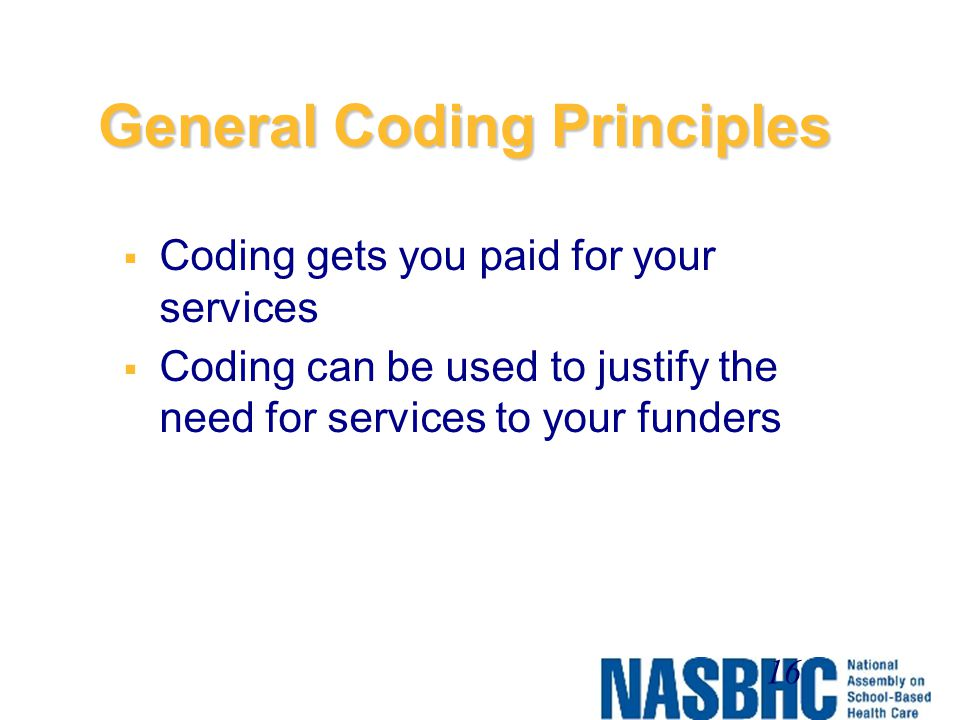 General Coding Principles