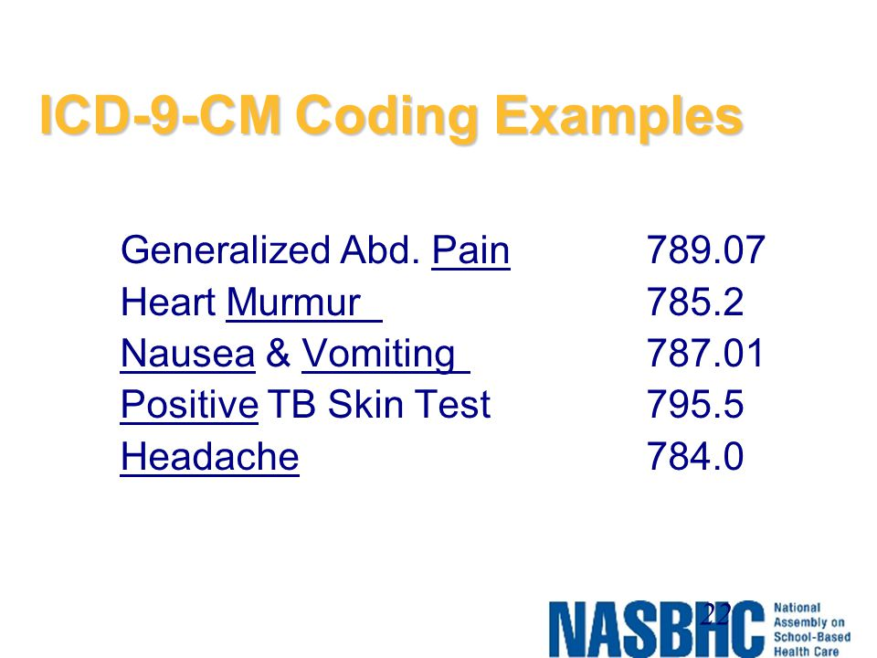 ICD-9-CM Coding Examples