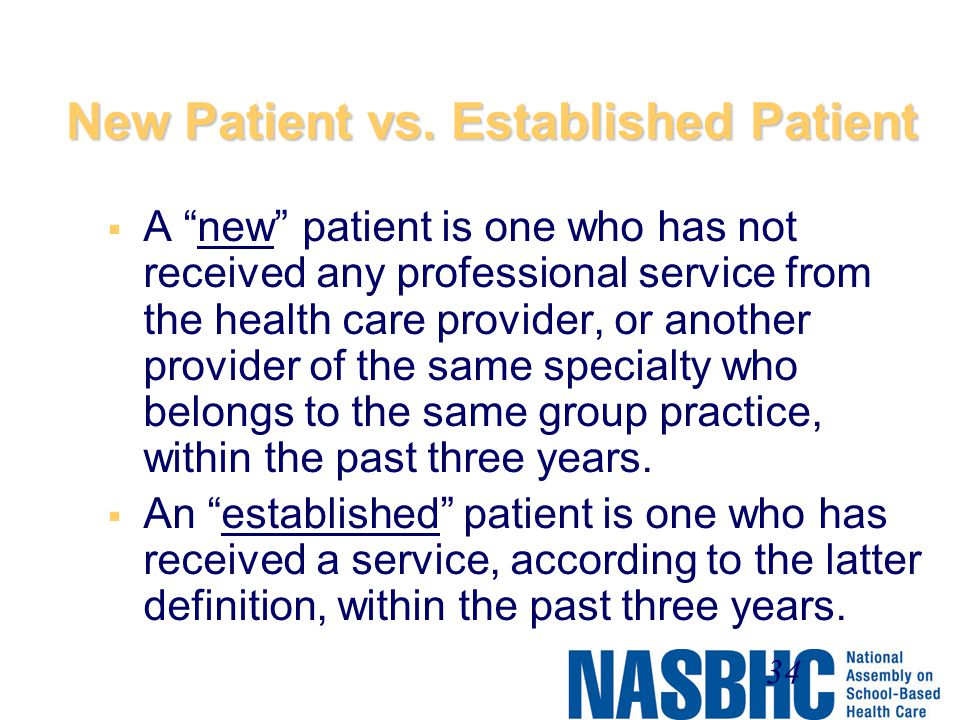 New Patient vs. Established Patient