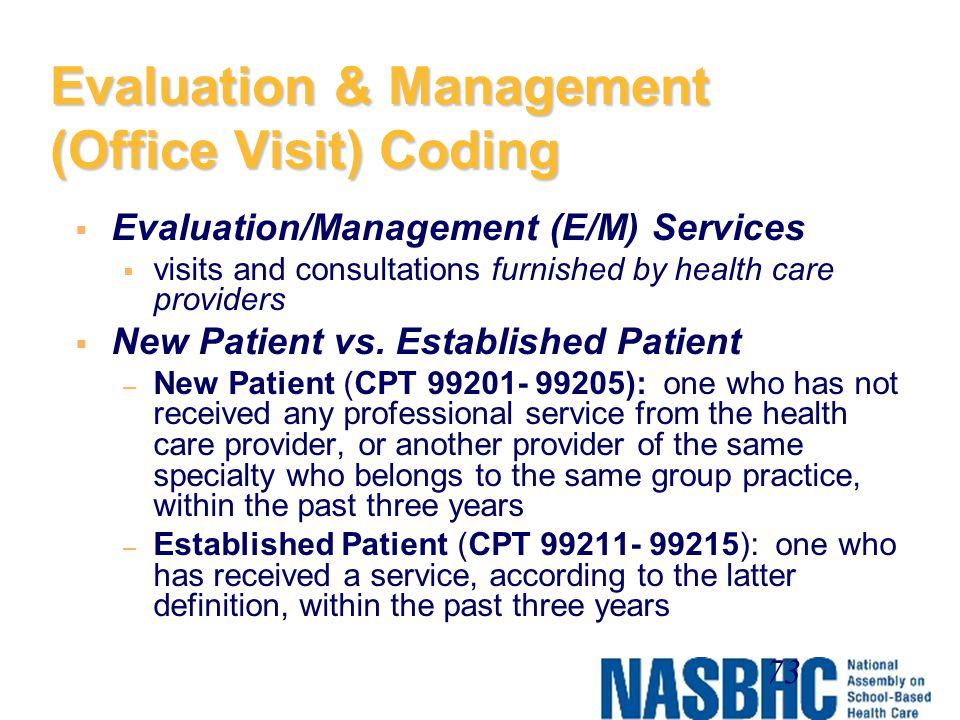 Evaluation & Management (Office Visit) Coding