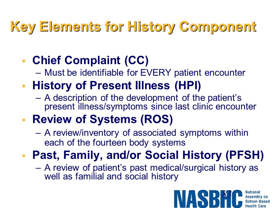 Key Elements for History Component