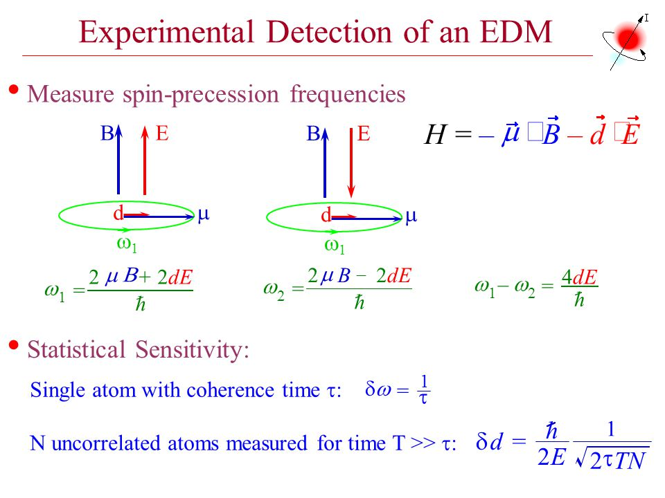 Experimental Detection of an EDM