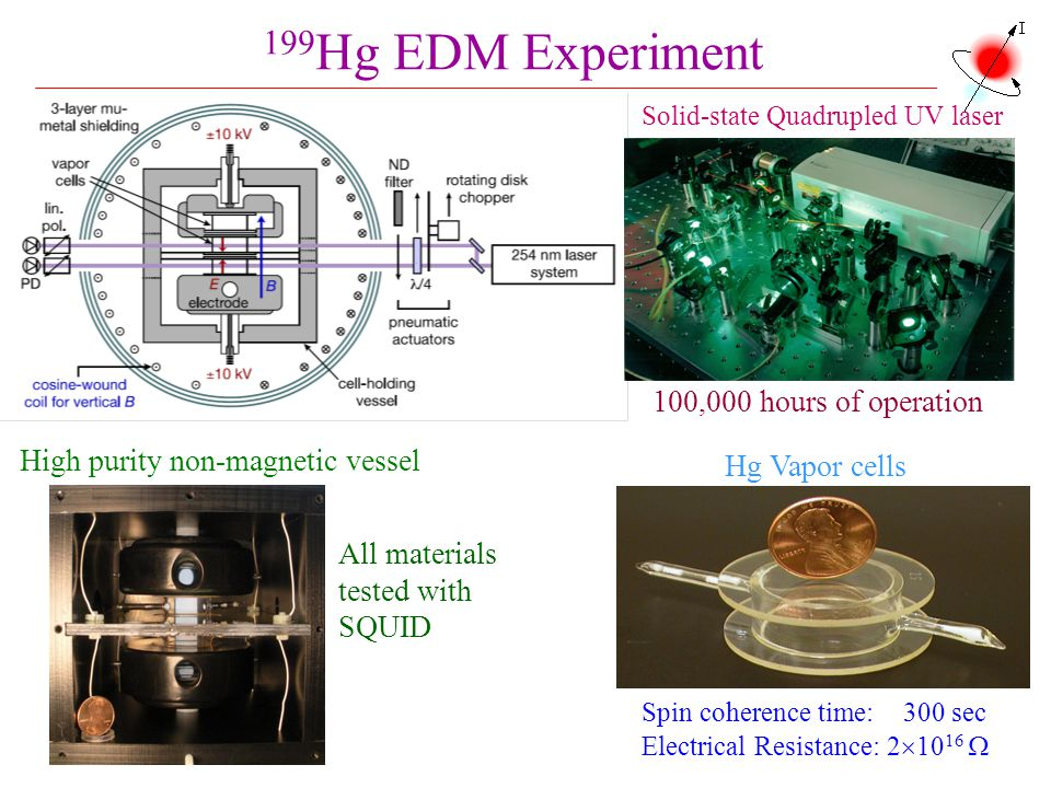 199Hg EDM Experiment 100,000 hours of operation