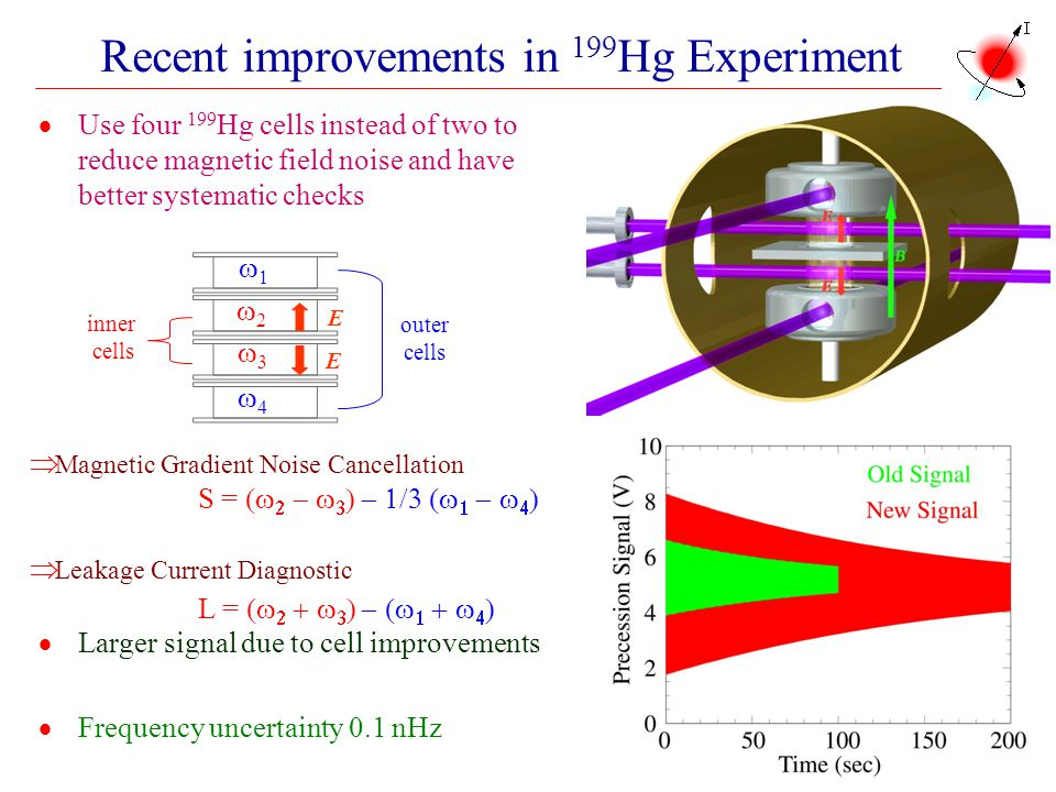 Recent improvements in 199Hg Experiment