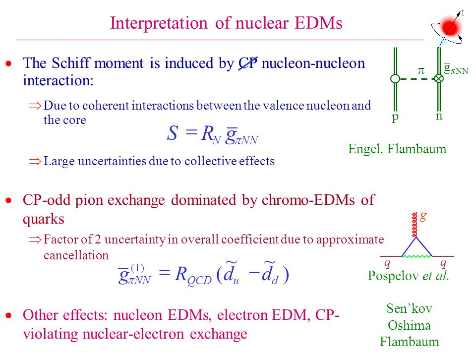 Interpretation of nuclear EDMs
