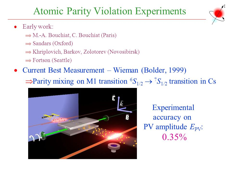 Atomic Parity Violation Experiments