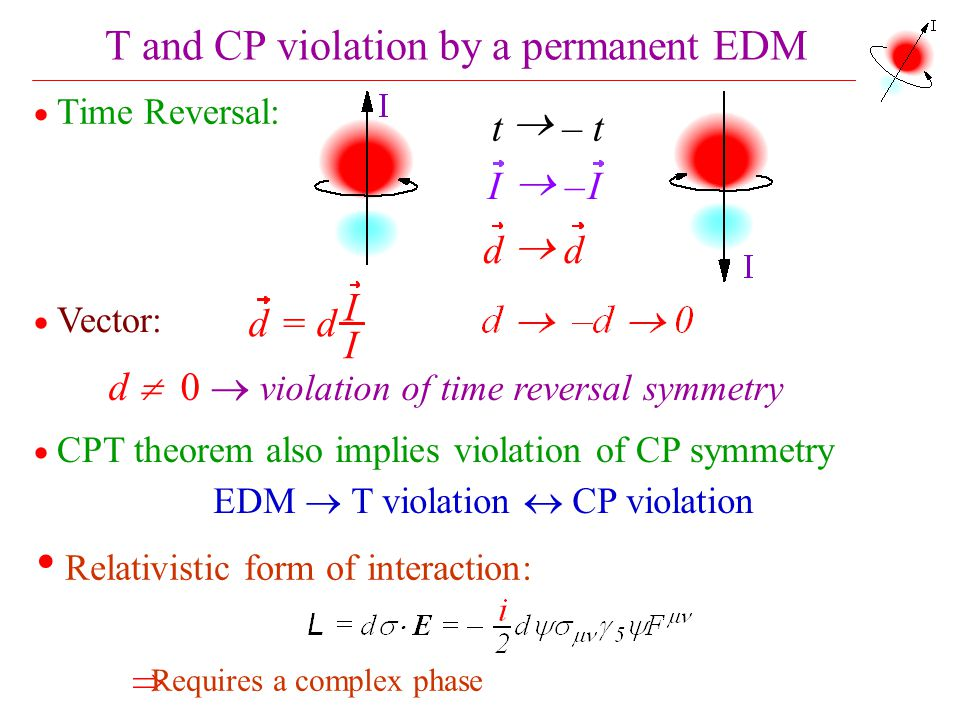 T and CP violation by a permanent EDM