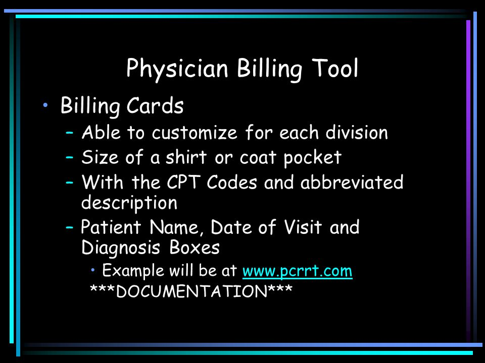 Physician Billing Tool