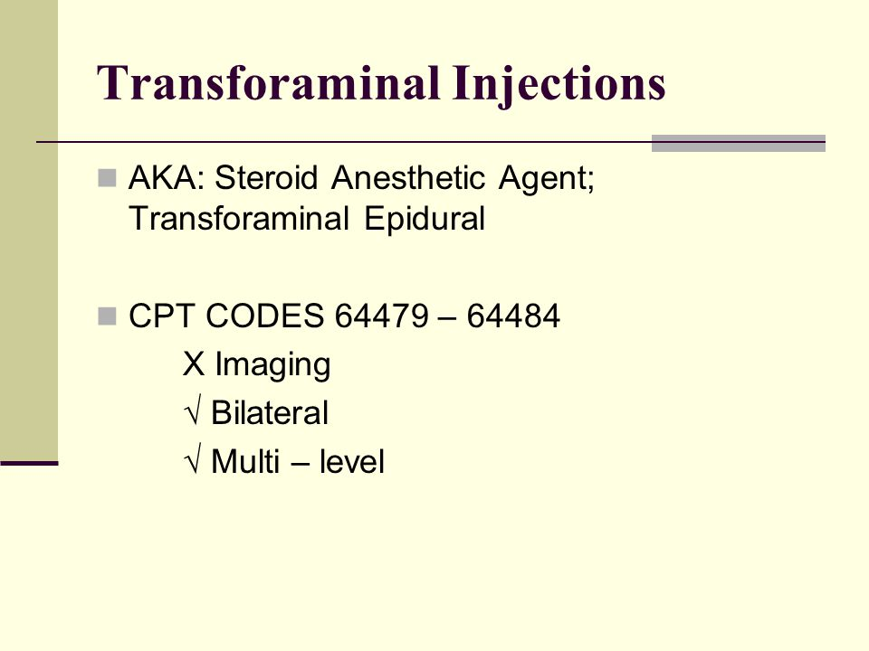 Transforaminal Injections