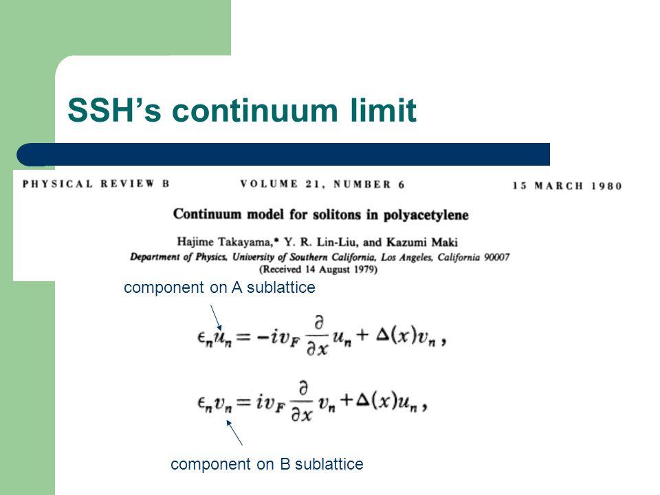 SSH's continuum limit component on A sublattice