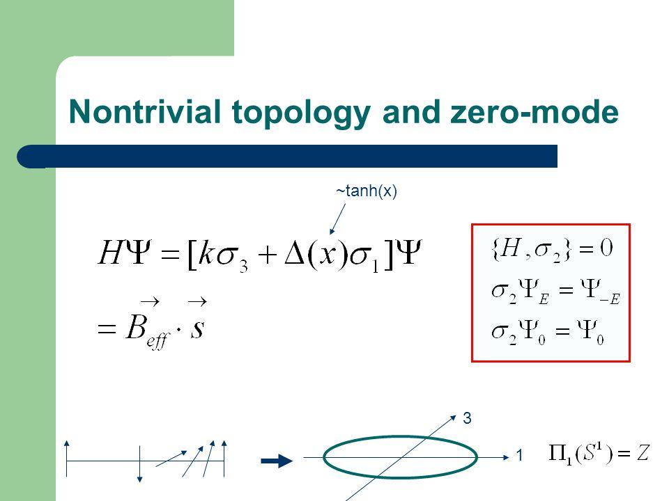 Nontrivial topology and zero-mode