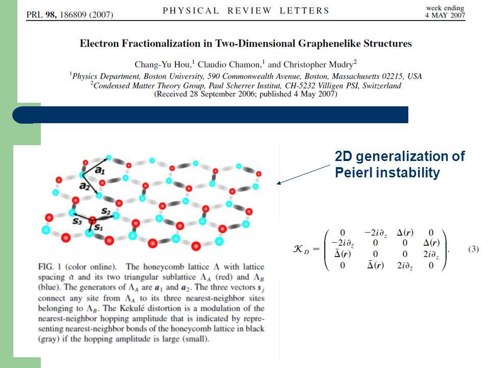 2D generalization of Peierl instability