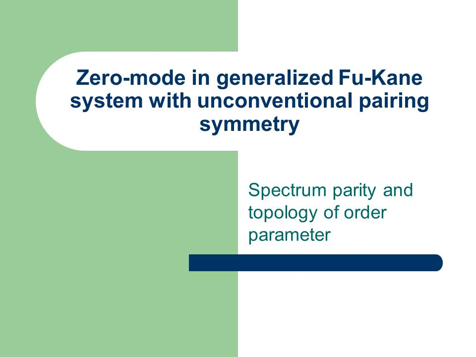 Spectrum parity and topology of order parameter