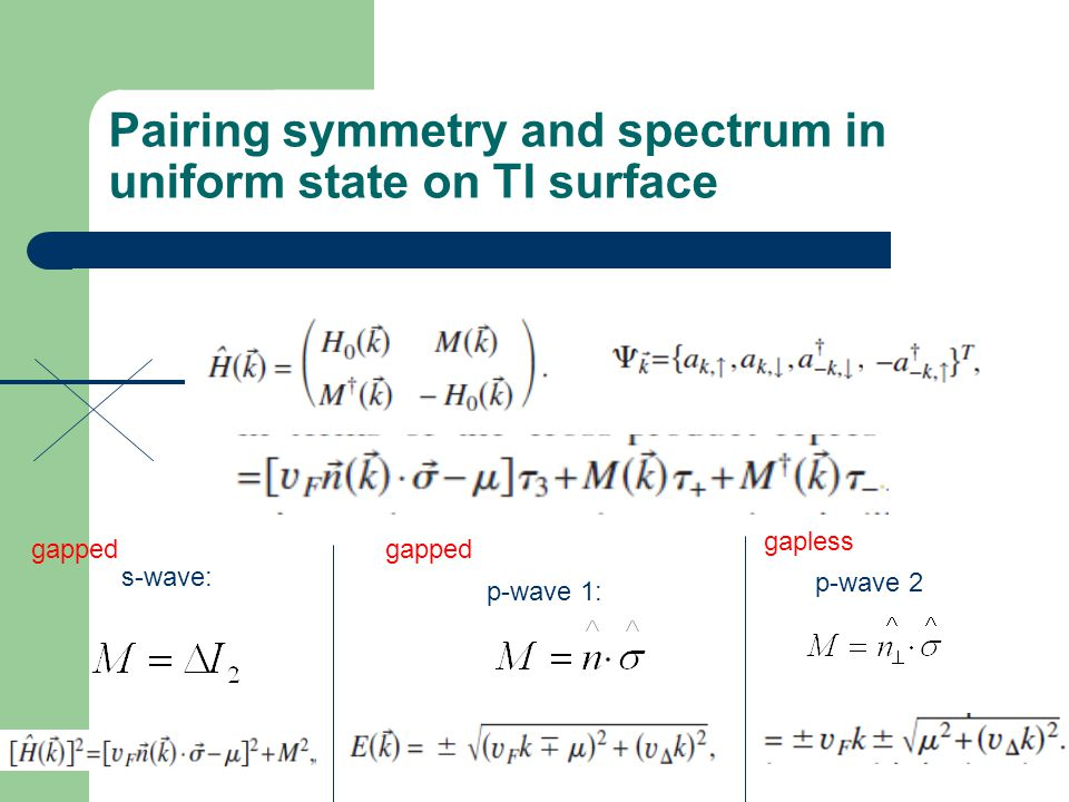 Pairing symmetry and spectrum in uniform state on TI surface