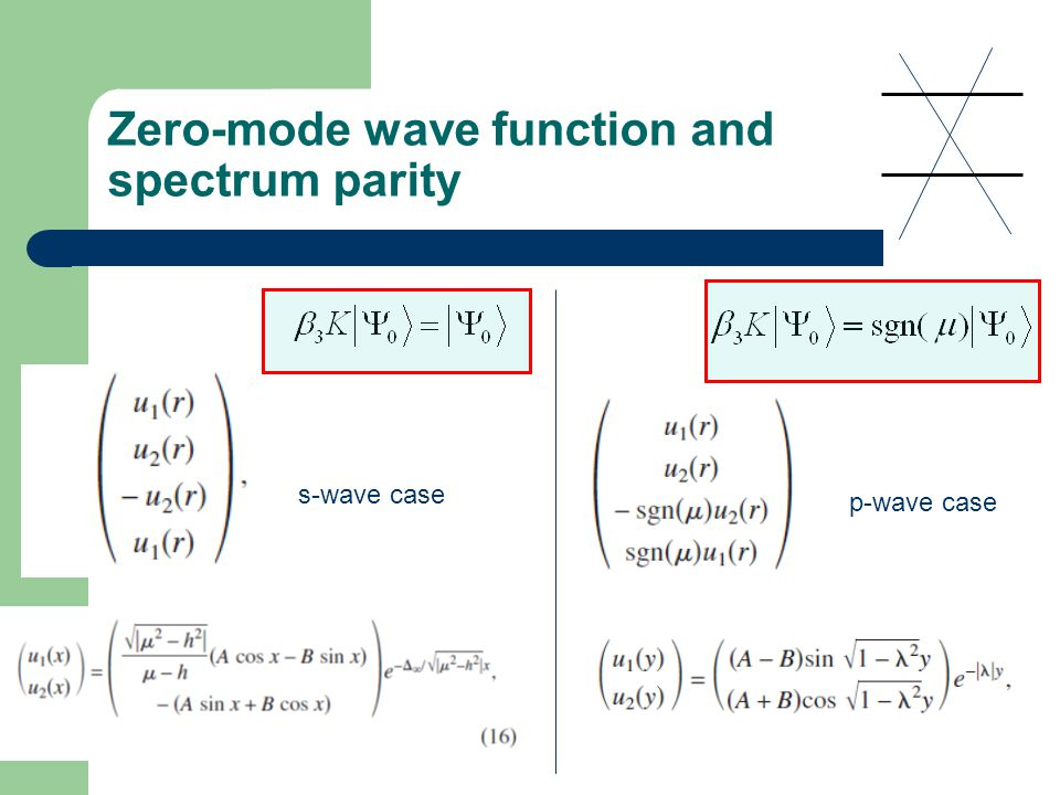 Zero-mode wave function and spectrum parity