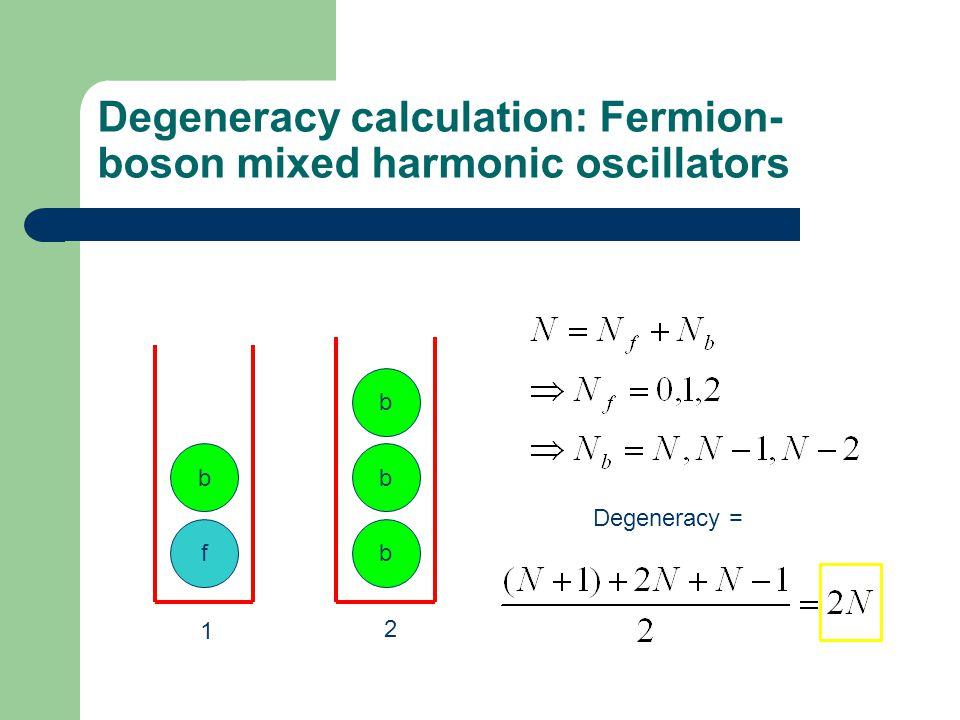 Degeneracy calculation: Fermion-boson mixed harmonic oscillators