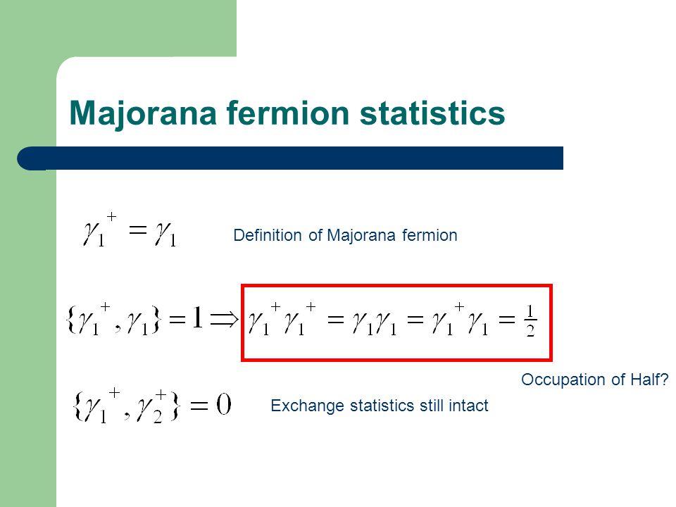 Majorana fermion statistics