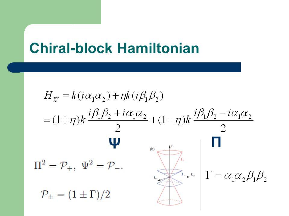 Chiral-block Hamiltonian