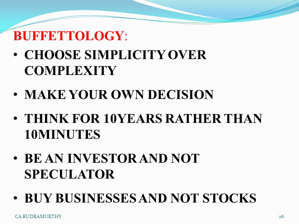 CHOOSE SIMPLICITY OVER COMPLEXITY MAKE YOUR OWN DECISION