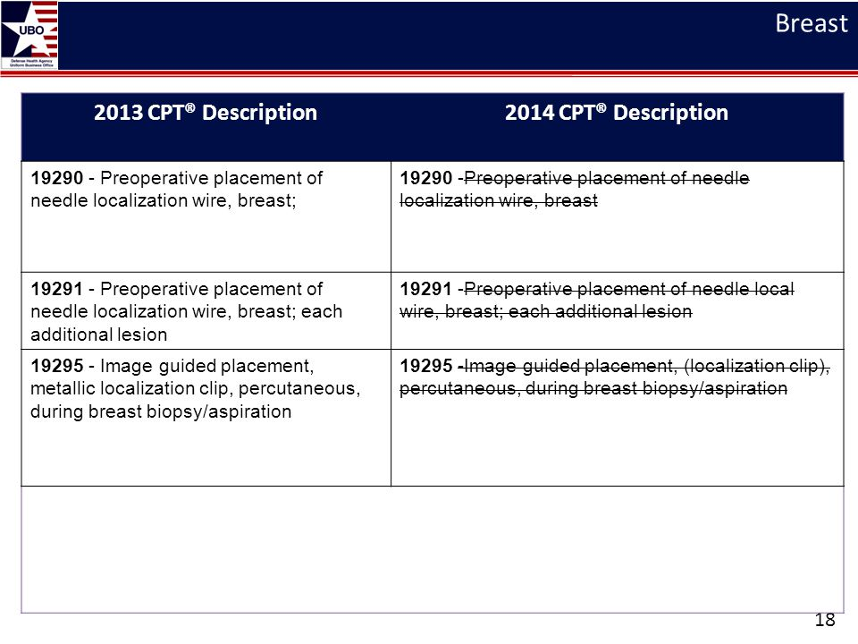 Breast 2013 CPT® Description 2014 CPT® Description