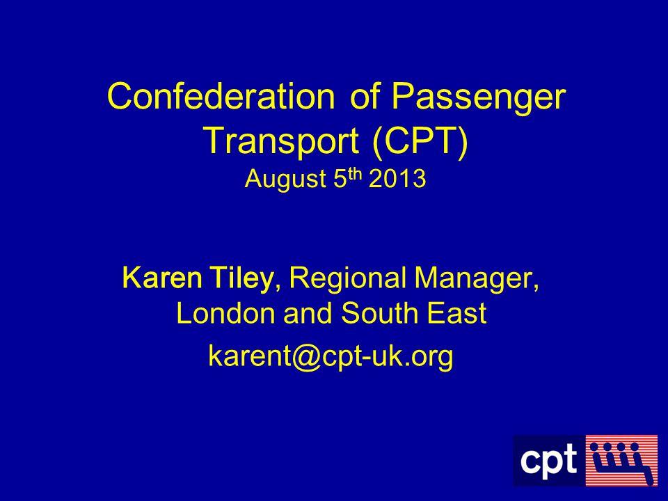 Karen Tiley, Regional Manager, London and South East karent@cpt-uk.org