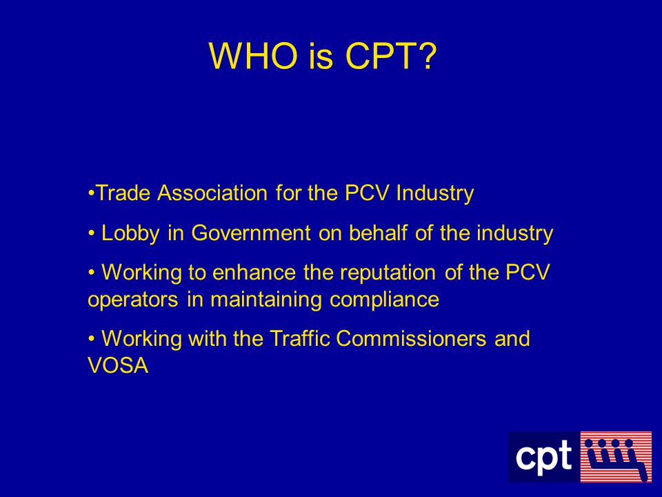 WHO is CPT Trade Association for the PCV Industry