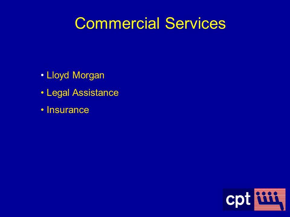 Commercial Services Lloyd Morgan Legal Assistance Insurance