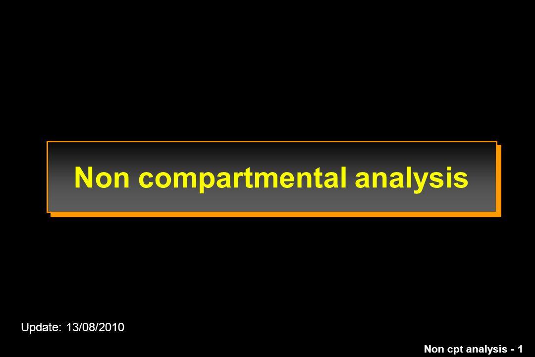 Non compartmental analysis