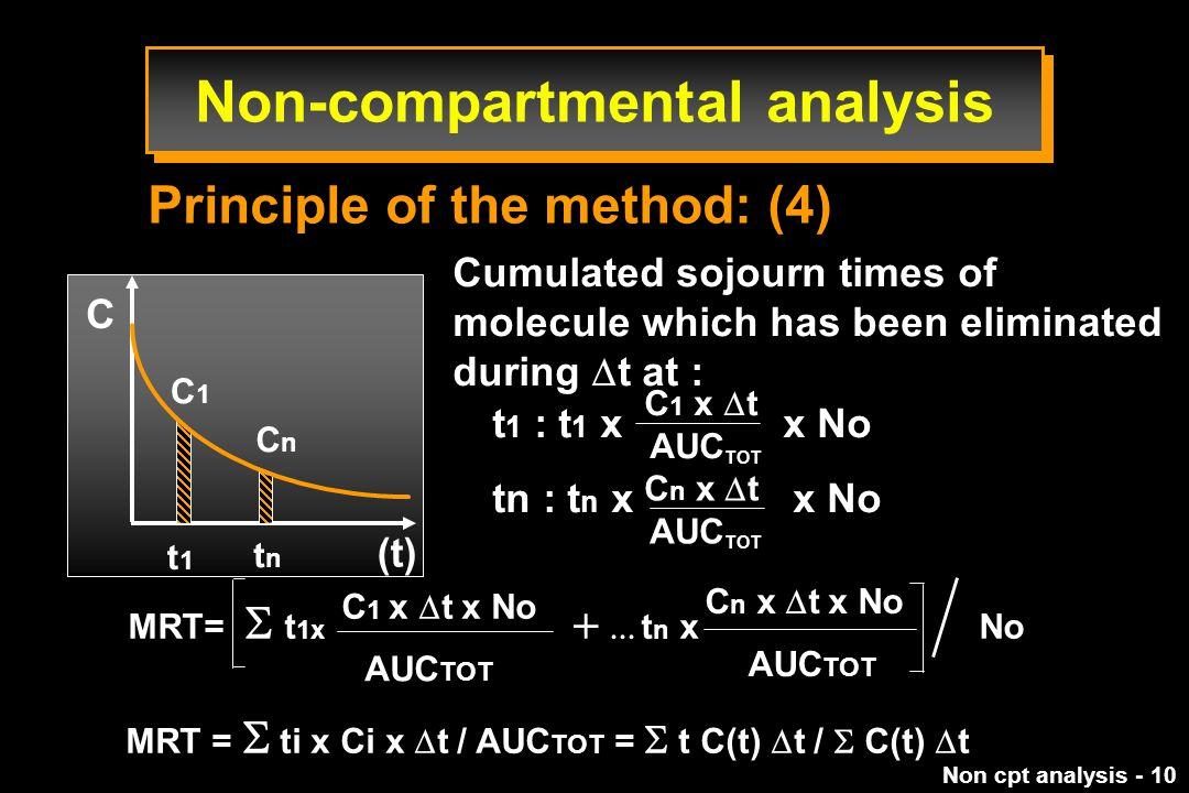 Non-compartmental analysis
