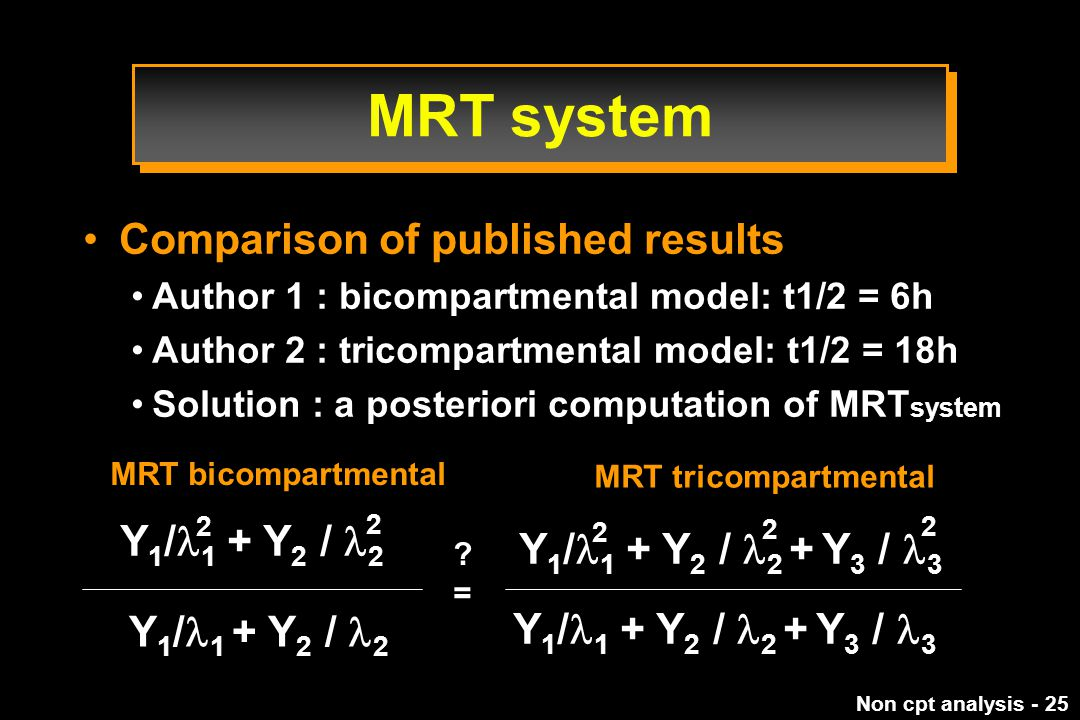 MRT system Comparison of published results Y1/1 + Y2 / 2 2 2