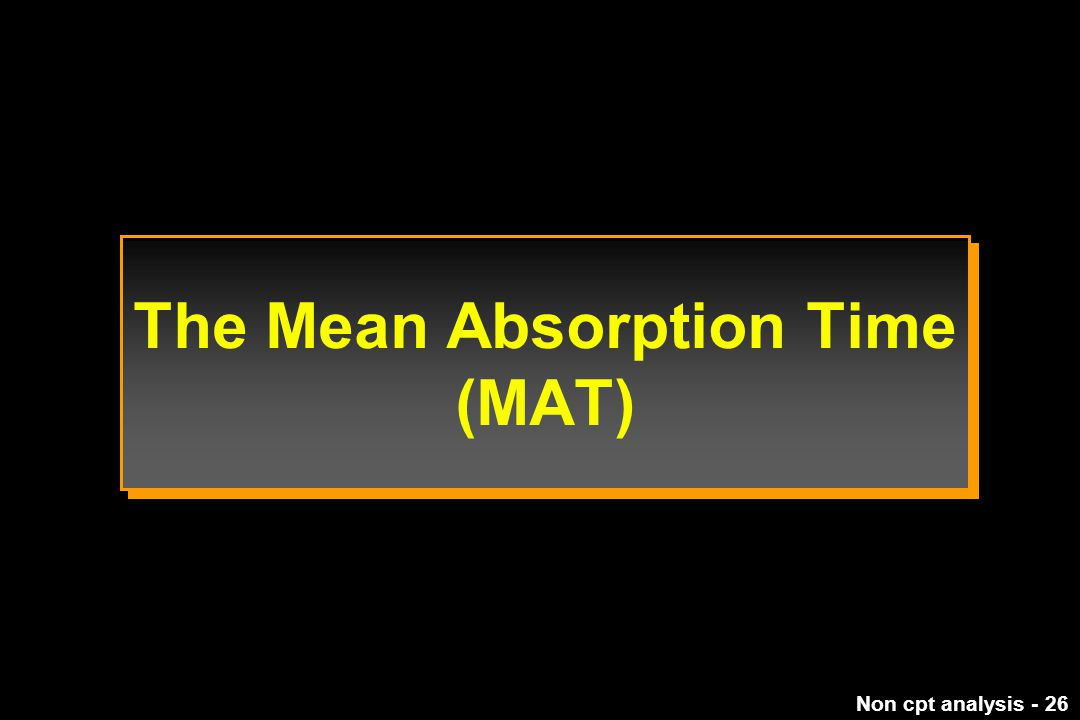 The Mean Absorption Time (MAT)