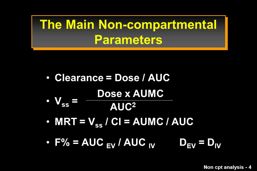 The Main Non-compartmental Parameters