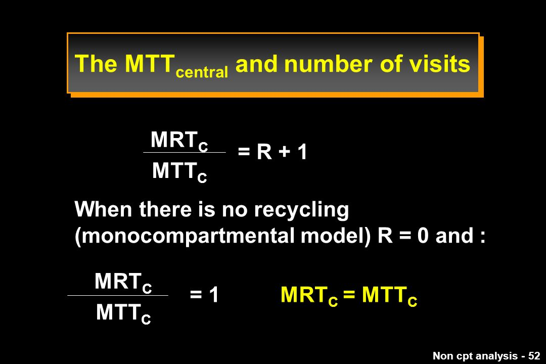 The MTTcentral and number of visits